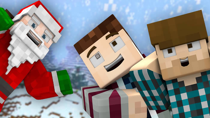 A Merry Minecraft Christmas Wallpaper
