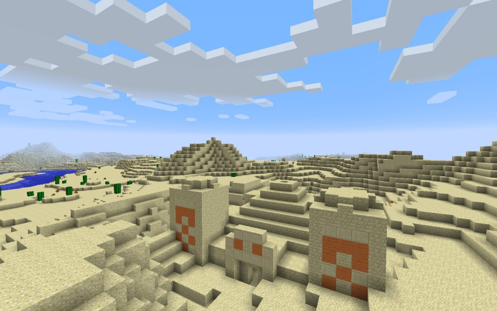 Desert Temple and Village Near the Jungle Seed for Mineraft 1.7.10/1.8.0 Screenshot 2