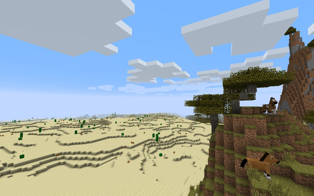 Desert Temple and Village Near the Jungle Seed for Mineraft 1.7.10/1.8.0 Screenshot 6