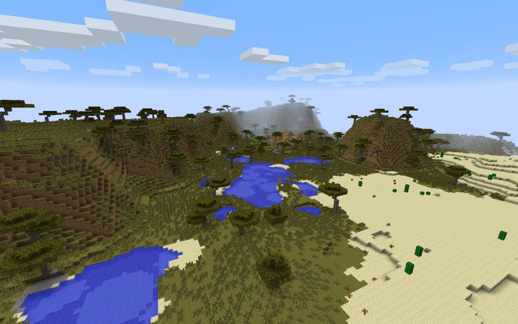 Desert Temple and Village Near the Jungle Seed for Mineraft 1.7.10/1.8.0 Screenshot 9