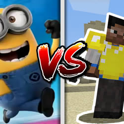 Despicable Me Minion Rush vs Minecraft Temple