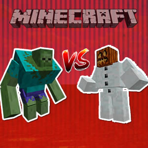 Minecraft Mutant Zombie vs Mutant Snow Golem