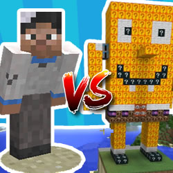 Minecraft Noob vs SpongeBob Lucky Blocks