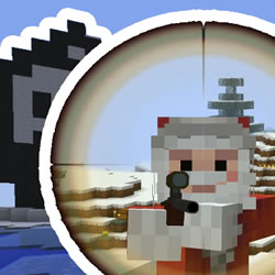 Santa Claus saves Christmas in Minecraft