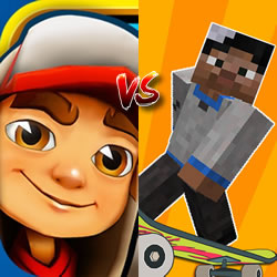 Subway Surf vs Minecraft School #74