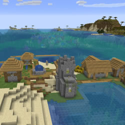 Village on Ocean Shore Seed