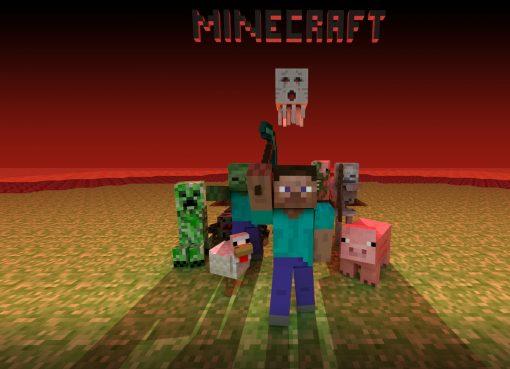 The Villagers Minecraft Wallpaper