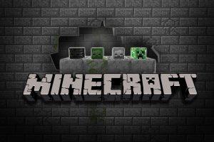 Black a Brick HD Minecraft Wallpaper