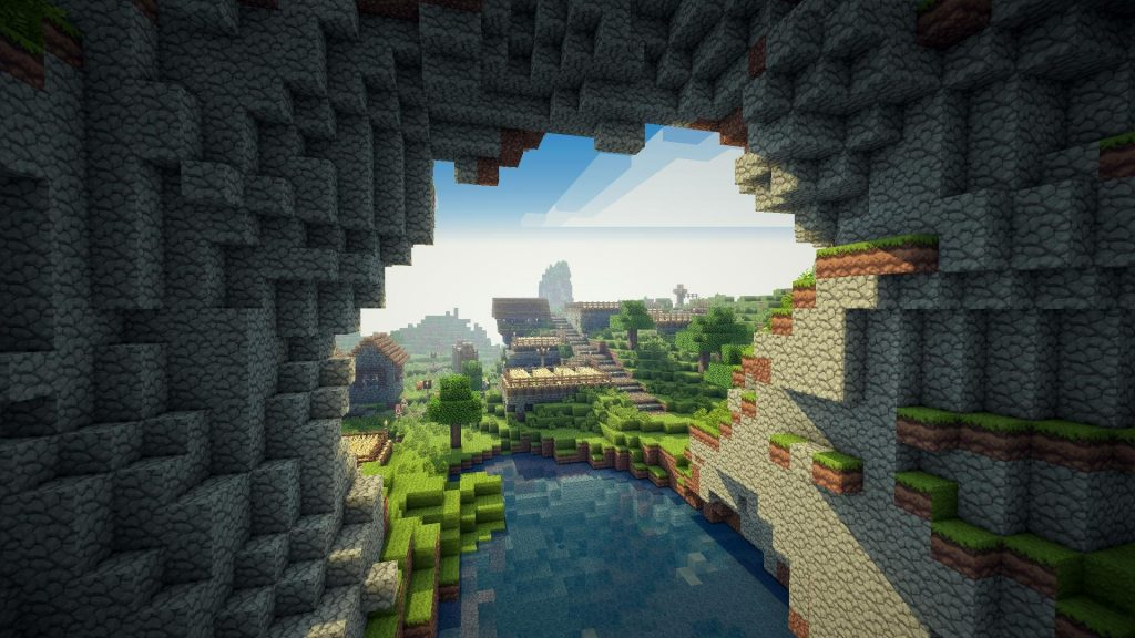 Minecraft Cave HD Wallpaper