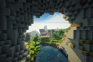 Minecraft Cave HD Wallpaper