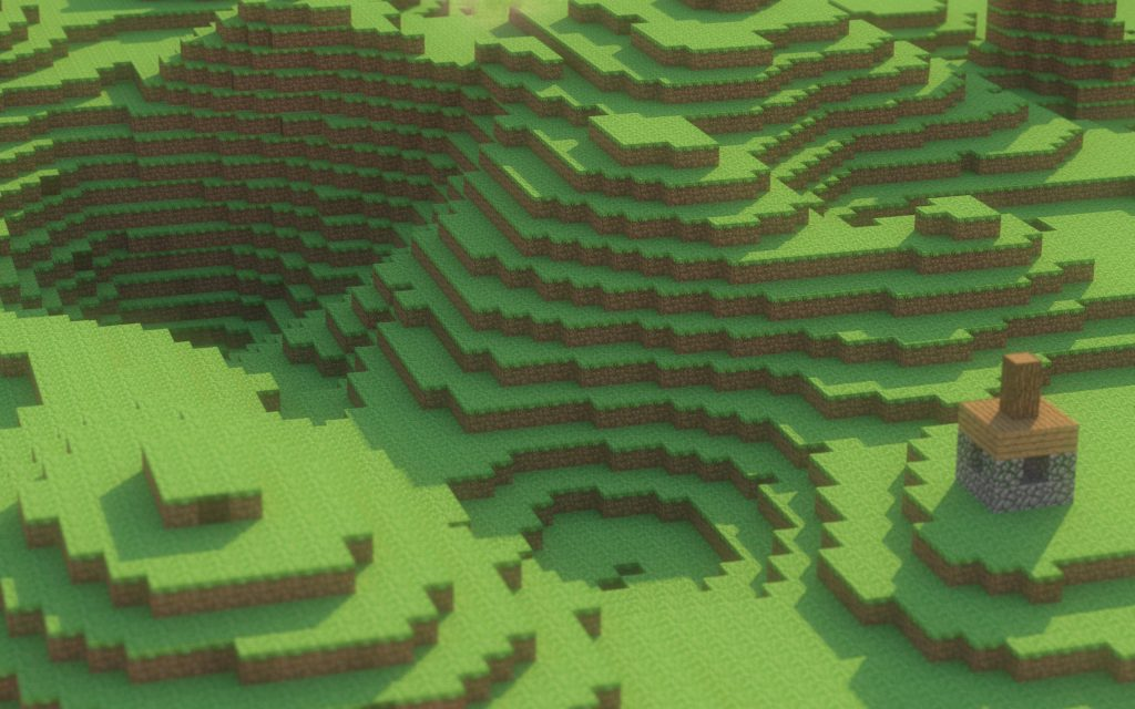 Minecraft Landscape Wallpaper 2560x1600