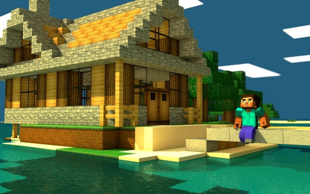 Minecraft House Wallpaper