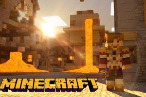 Minecraft Source of Lava Wallpaper