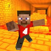 Lava Race Game Like Minecraft