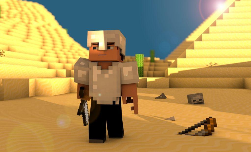Minecraft Steve in the Desert Wallpaper 2880x1800