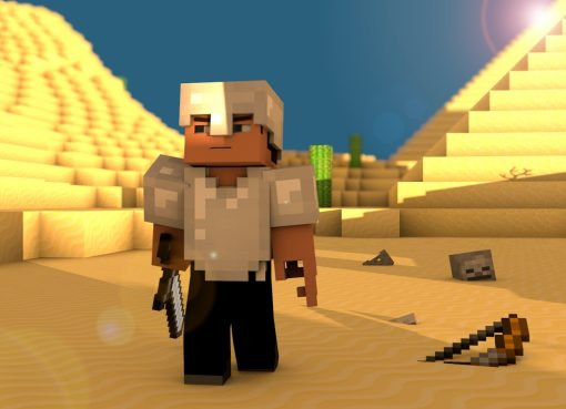 Minecraft Steve in the Desert Wallpaper 2880x1800