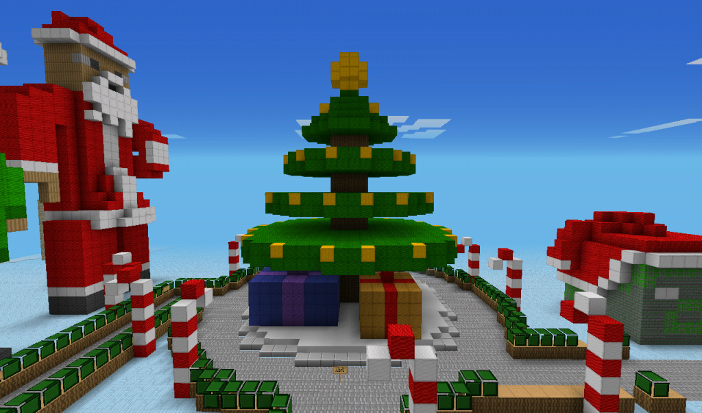 Christmas Steve Minecraft Wallpaper