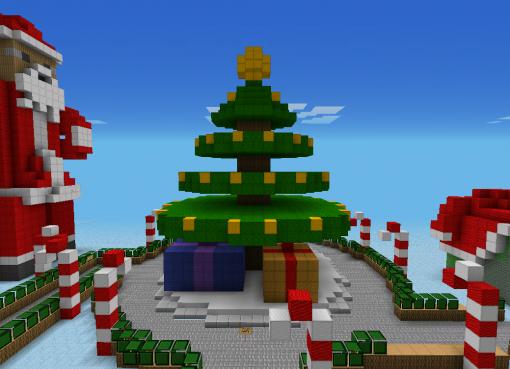 Christmas Steve Minecraft Wallpaper