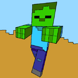 Zombie Minecraft Coloring