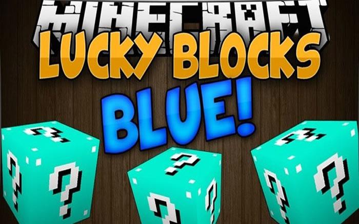 Minecraft Lucky Block Blue 1.8/1.7.10