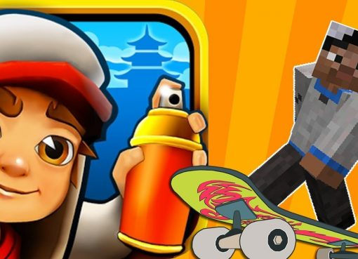 Subway Surf vs Minecraft School #74 Gameplay