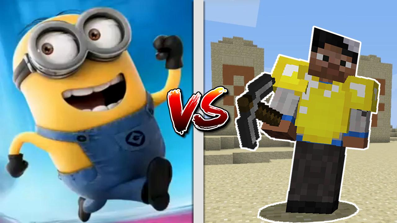 Despicable Me Minion Rush vs Minecraft Temple Video