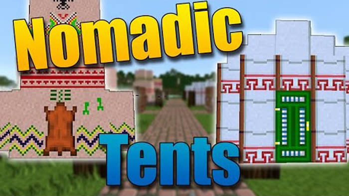 Nomadic Tents Mod for Minecraft 1.12.2/1.10.2/1.9.4/1.7.10