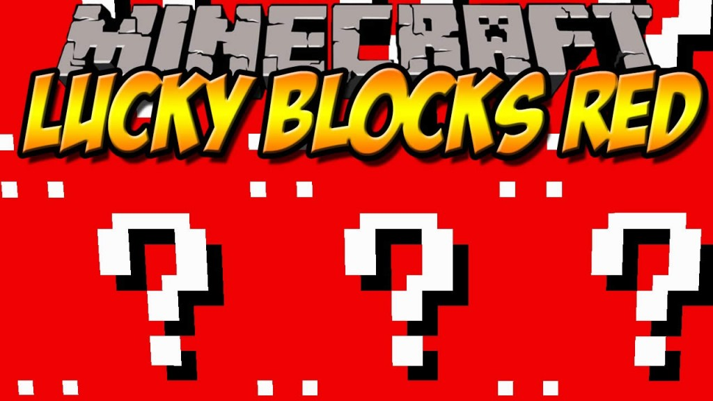 Lucky Block Red Mod for Minecraft 1.7.10/1.7.2