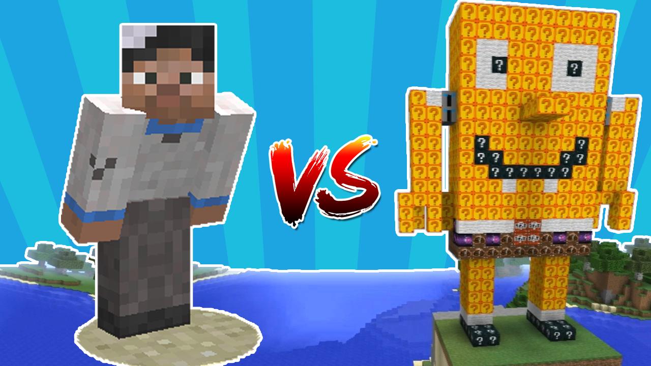Minecraft Noob vs SpongeBob Lucky Blocks