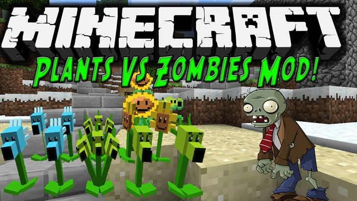 Plants vs Zombies Mod for Minecraft