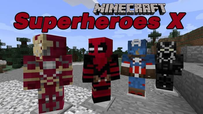 Superheroes X Mod for Minecraft 1.13.2/1.12.2