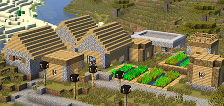 Villages and Portal to Edge Seed for Minecraft 1.9.4/1.8.9/1.7.10