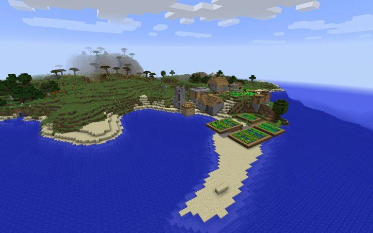 Village on Ocean Shore Seed Screenshot 2