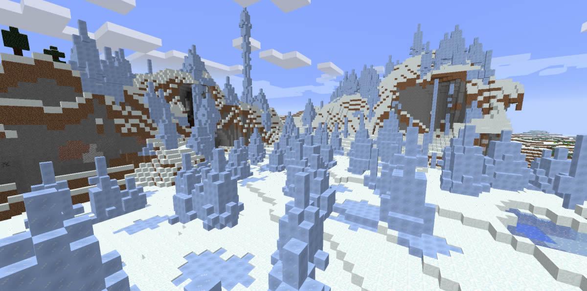 Winter Wonderland [Igloos and Ice Spikes] Minecraft 1.13.2/1.10.2 Seed