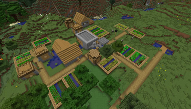Zombie Village Seed for Minecraft 1.13.2