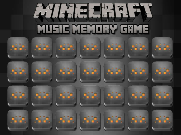 Minecraft Music Memory Game
