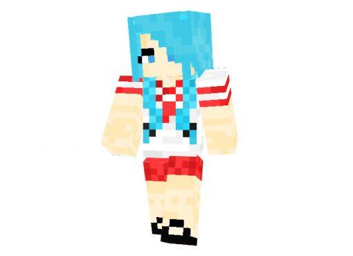 Anime School Girl Minecraft Skin 64x32
