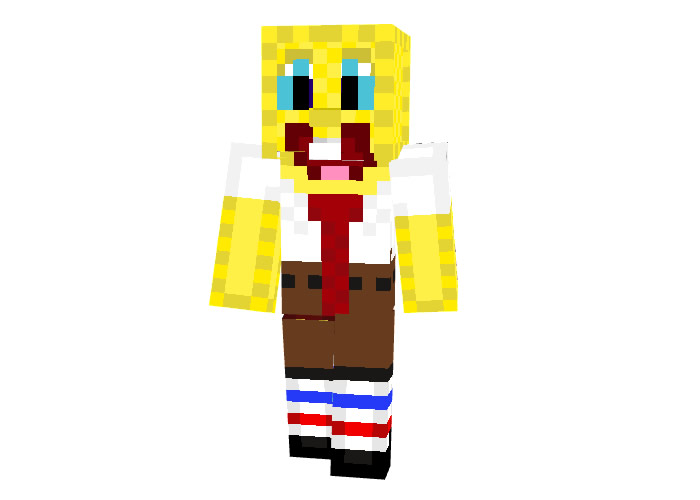 BobEsponja skin for Minecraft 64x64