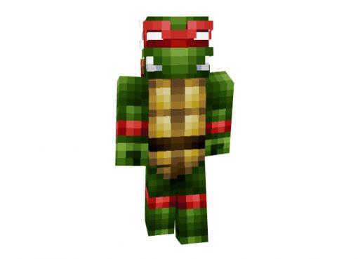 Raphael Teenage Mutant Ninja Turtles Cartoon Skin for Minecraft