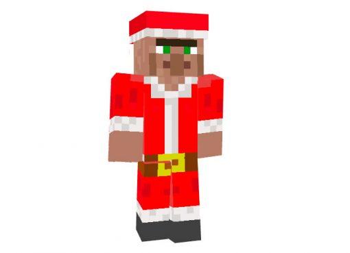 Santa Villager Christmas Mob Skin for Minecraft