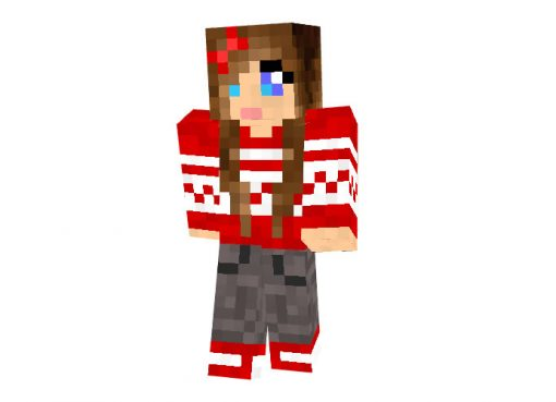 Brunette Sweater Minecraft Skin for Girl