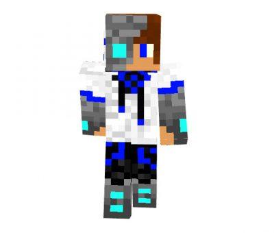 Cyborg Teen Blue - Hi-Tech Skin for Minecraft