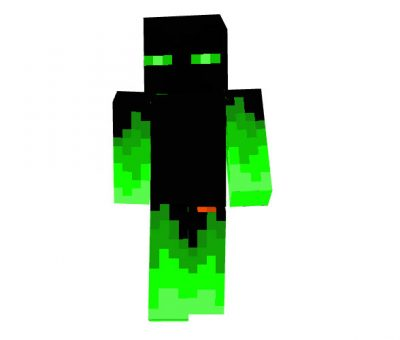 Green Fire Endy Minecraft Skin