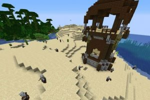 Jungle Temple and Pillager Outpost Minecraft Seed 1.14.4