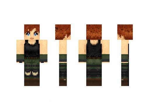 Metal Gear Solid Meryl Skin for Minecraft