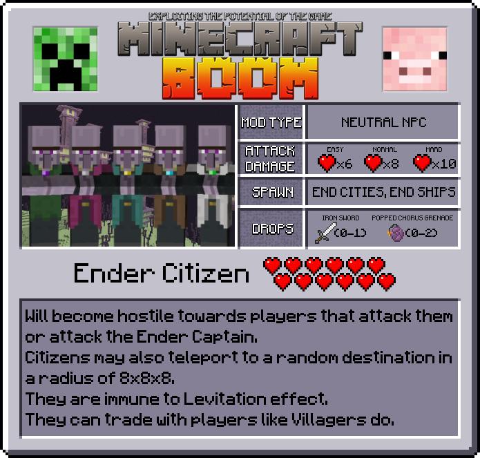 Minecraft Boom Mod Features