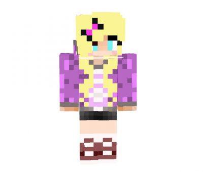 My Skin on Purple and Blonde Hair - Minecraft Skins [64x32]