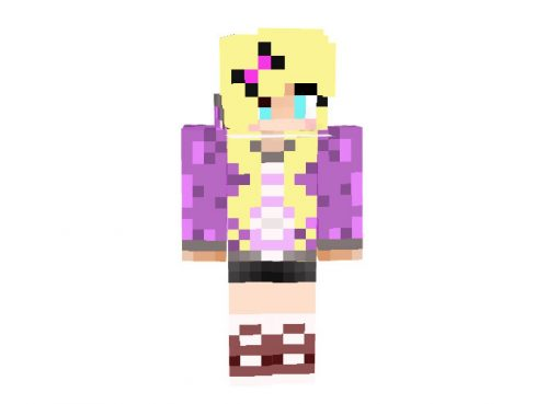 My Skin on Purple and Blonde Hair - Minecraft Skins [64x32]