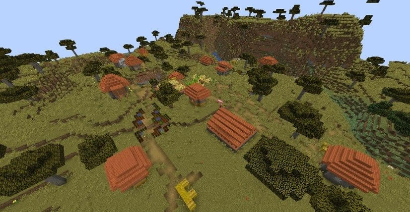 Pillager Outpost and 4 Villages Seed 1.14.4 Screenshot 2
