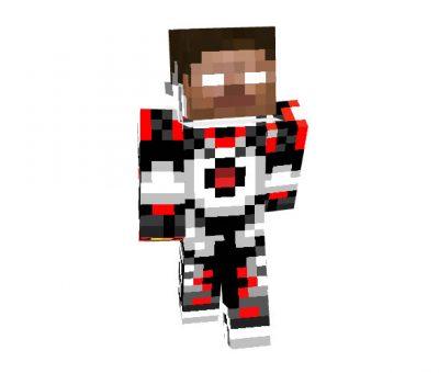 Robot Steve Red Skin for Minecraft